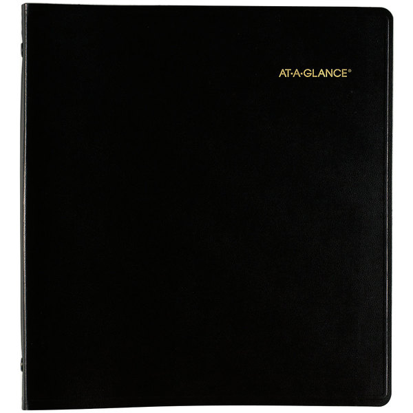 "At-A-Glance 7023605 9"" x 11"" Black January 2020 - December 2022 Refillable Multi-Year Monthly Planner"