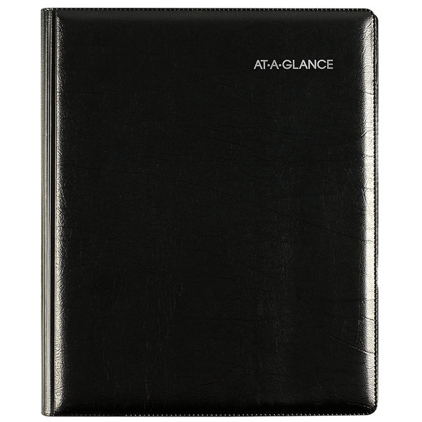 "At-A-Glance G54500 DayMinder 6 7/8 x 8 3/4"" Black January 2020 - December 2020 Executive Refillable Weekly / Monthly Planner"