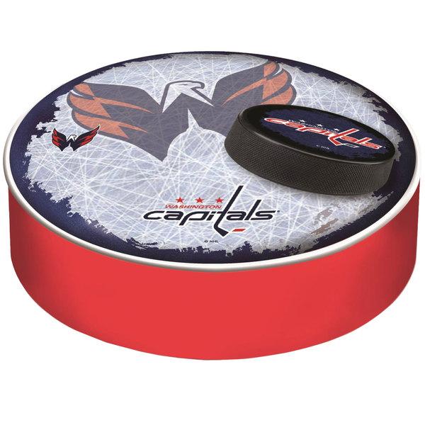 "Holland Bar Stool BSCWshCap-D2 14 1/2"" Washington Capitals Vinyl Bar Stool Seat Cover"