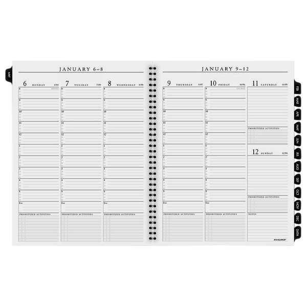 """At-A-Glance 7091110 8 1/4"""" x 10 7/8"""" Executive Weekly / Monthly 2020 Planner Refill"""