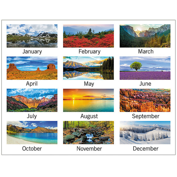 """At-A-Glance 88200 12"""" x 12"""" Landscape Monthly January 2021 ..."""