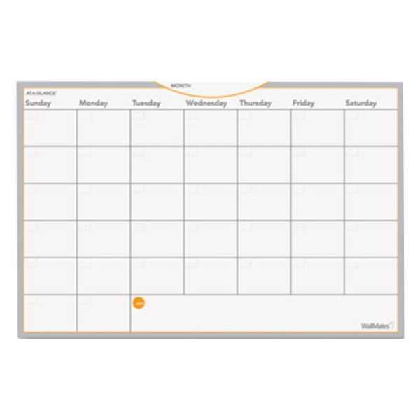 "At-A-Glance AW402028 WallMates 12"" x 18"" Self-Adhesive Dry Erase Monthly Planning Surface"