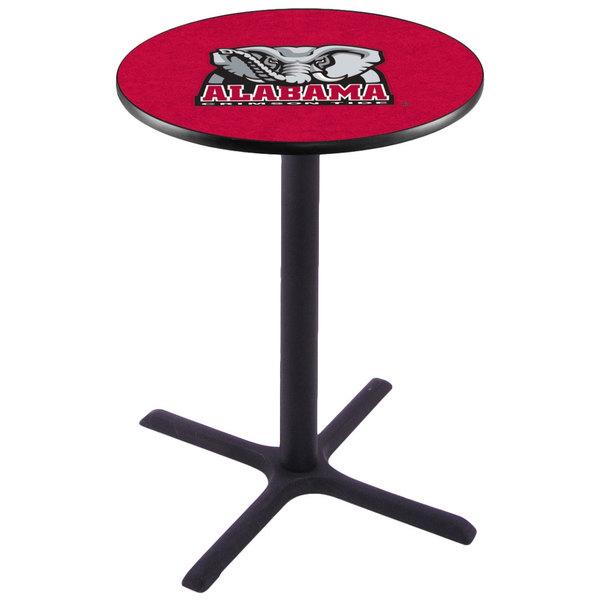"Holland Bar Stool L211B3628AL-Ele 28"" Round University of Alabama Pub Table"