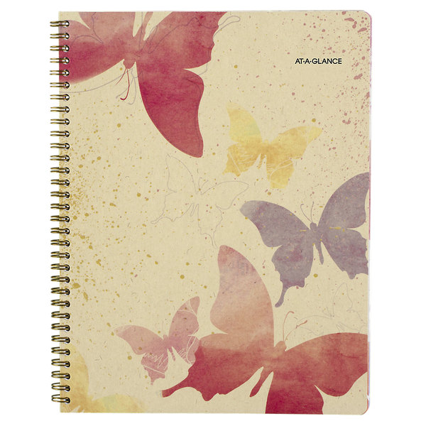 """At-A-Glance 791905G Watercolors 8 1/2"""" x 11"""" January 2020 - January 2021 Weekly / Monthly Planner"""