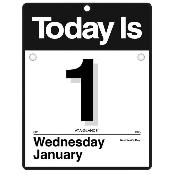"""At-A-Glance K400 9 3/8"""" x 12"""" """"Today Is"""" Daily January 2020 - December 2020 Wall Calendar"""
