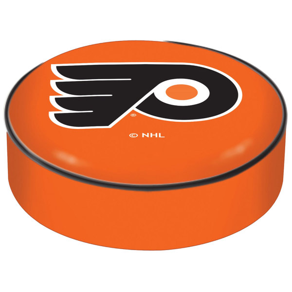 "Holland Bar Stool BSCPhiFly-O 14 1/2"" Philadelphia Flyers Vinyl Bar Stool Seat Cover"