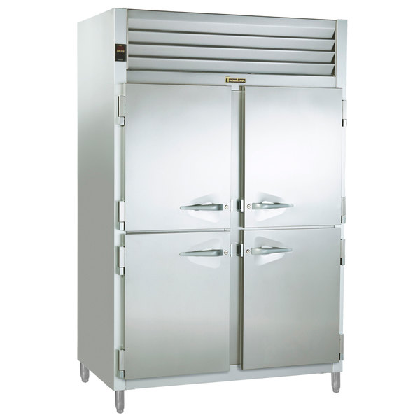 Traulsen RCV232WUT-HHS Stainless Steel Two Section Half Door Reach In Convertible Freezer / Refrigerator - Specification Line