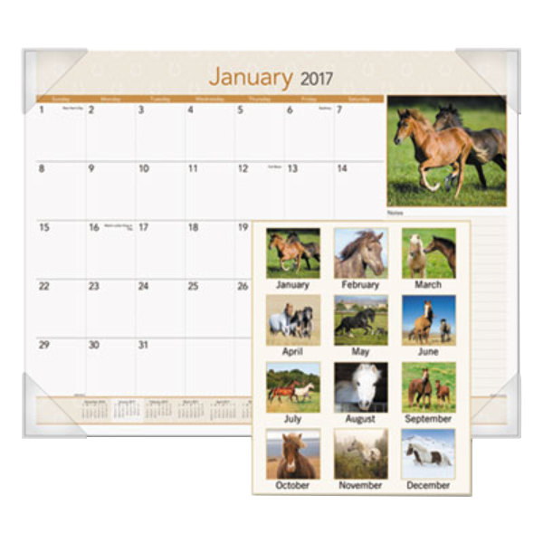 At A Glance Dmd16832 22 X 17 Monthly January 2018 December Horses Desk Pad Calendar