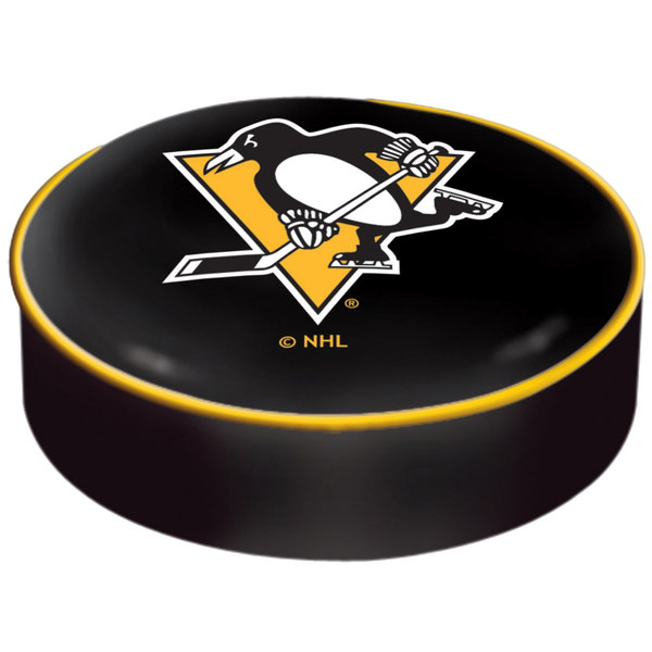 "Holland Bar Stool BSCPitPen 14 1/2"" Pittsburgh Penguins Vinyl Bar Stool Seat Cover"