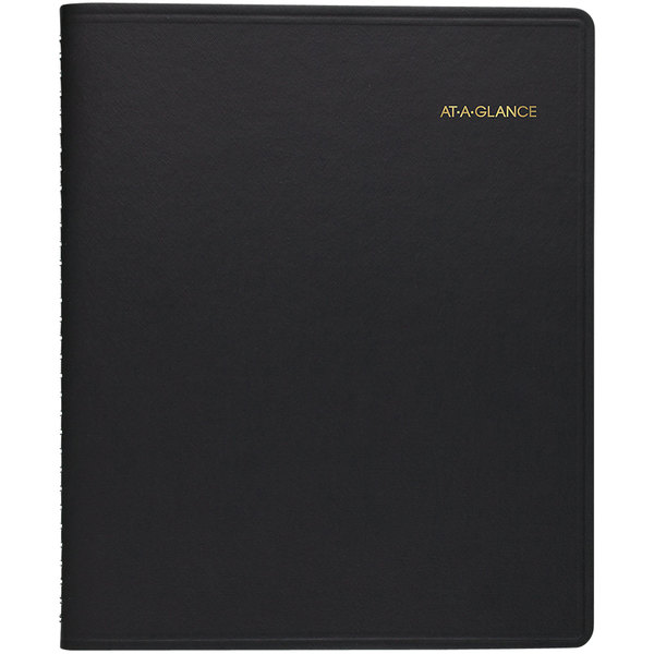 """At-A-Glance 7012005 6 7/8"""" x 8 3/4"""" Black January 2020 - December 2020 Monthly Planner"""