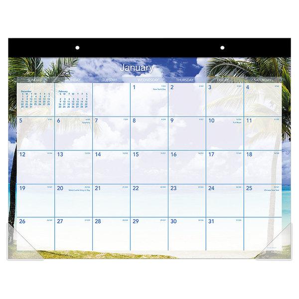 "At-A-Glance DMDTE232 22"" x 17"" 2021 Tropical Escape Desk Pad Main Image 1"