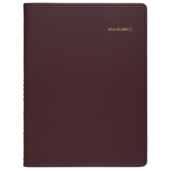 """At-A-Glance 7012050 6 7/8"""" x 8 3/4"""" Winestone January 2020 - December 2020 Monthly Planner"""