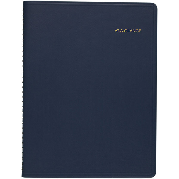 """At-A-Glance 7026020 8 7/8"""" x 11"""" Navy January 2020 - March 2021 Monthly Planner"""