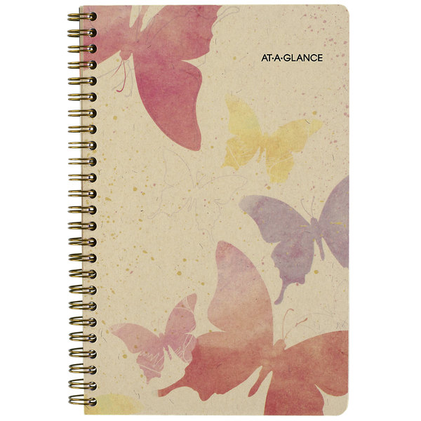 """At-A-Glance 791200G Watercolors 5 1/2"""" x 8 1/2"""" January 2020 - December 2020 Weekly / Monthly Planner"""