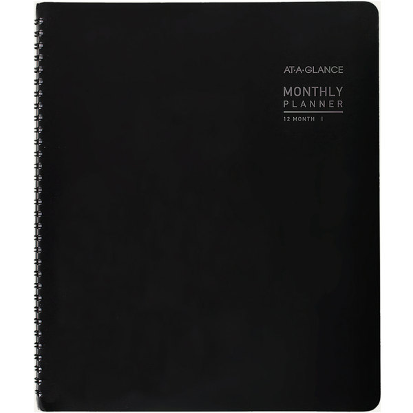 """At-A-Glance 70260X45 8 7/8"""" x 11"""" Graphite January 2020 - December 2020 Contemporary Monthly Planner with Premium Paper"""