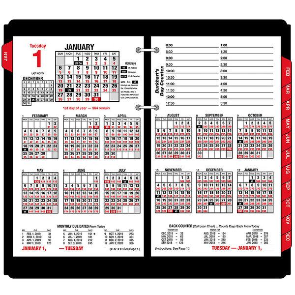 """At-A-Glance E71250 4 1/2"""" x 7 3/8"""" Burkhart's Day Counter 2020 Desk Calendar Refill"""