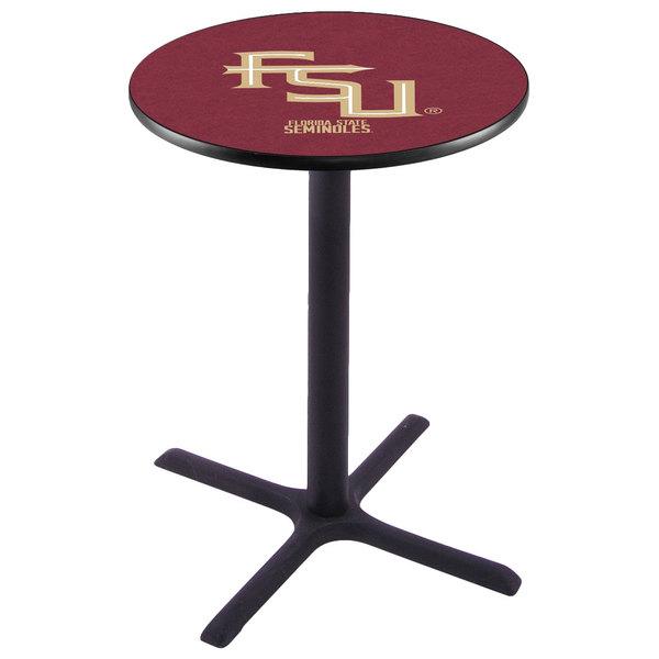 "Holland Bar Stool L211B36FSU-FS 28"" Round Florida State University Pub Table"