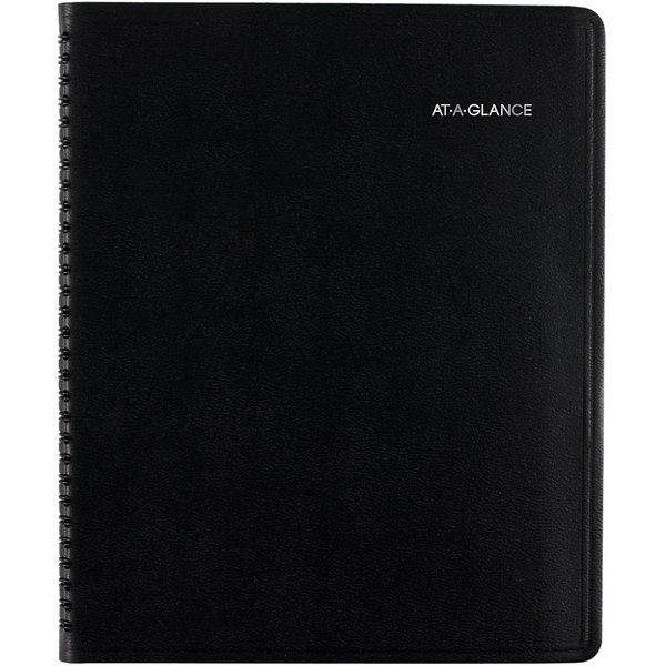 """At-A-Glance 761105 8"""" x 9 7/8"""" Black July 2019 - July 2020 QuickNotes Weekly / Monthly Academic Planner"""