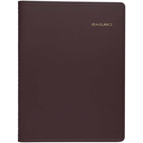 """At-A-Glance 7026050 8 7/8"""" x 11"""" Winestone January 2020 - March 2021 Monthly Planner"""