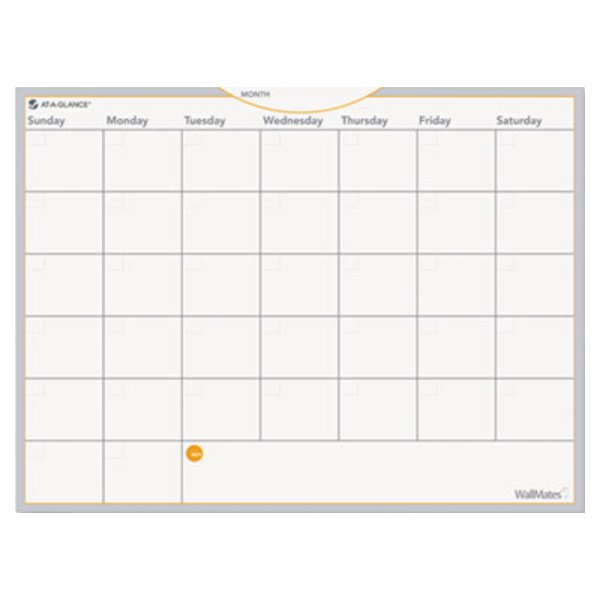 "At-A-Glance AW502028 WallMates 18"" x 24"" Self-Adhesive Dry Erase Monthly Planning Surface"