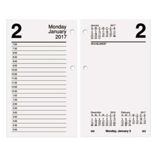 "At-A-Glance E71750 3 1/2"" x 6"" January 2019 - December 2019 Desk Calendar Refill"