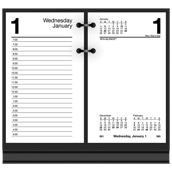 Ivory Ella 2019-2020 Academic Year Monthly Desk Pad Calendar Compilation Compact 17-3//4 x 11 D1235-705A