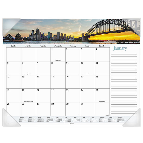 "At-A-Glance DMD14532 22"" x 17"" Monthly January 2020 - December 2020 Harbor Views Desk Pad Calendar"