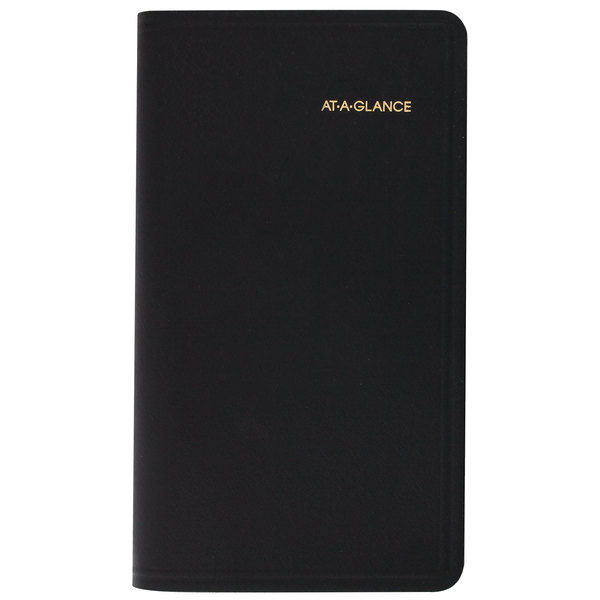 """At-A-Glance 7000805 3 1/4"""" x 6 1/4"""" Black January 2020 - December 2020 Compact Refillable Weekly Appointment Book"""