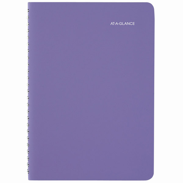 "At-A-Glance 938P200 4 7/8"" x 8"" Purple January 2020 - January 2021 Weekly / Monthly Appointment Book"