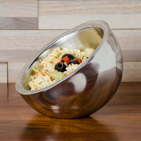 American Metalcraft AB6 23 oz. Double Wall Stainless Steel Angled Insulated Serving Bowl