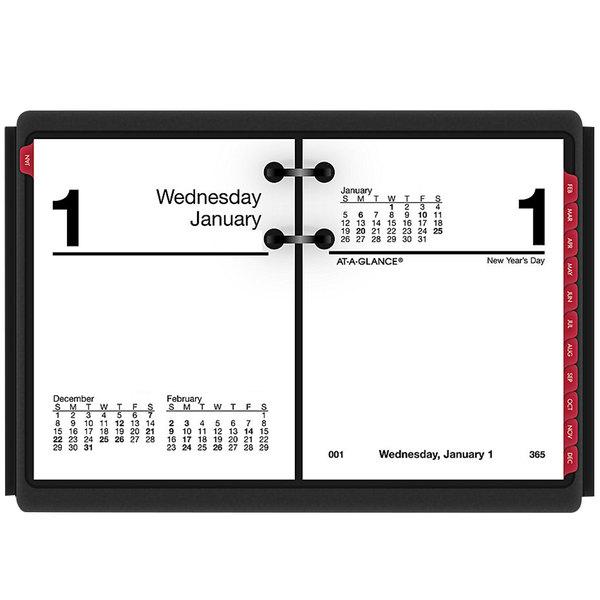 "At-A-Glance E91950 3"" x 3 3/4"" 2020 Compact Desk Calendar Refill"