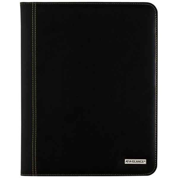 """At-A-Glance 7029005 9"""" x 11"""" Black January 2020 - January 2021 Refillable Executive Monthly Padfolio"""