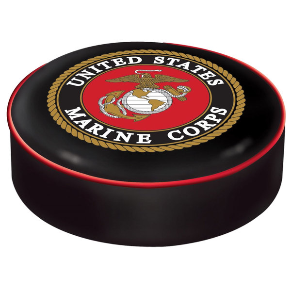 "Holland Bar Stool BSCMarine 14 1/2"" United States Marine Corps Vinyl Bar Stool Seat Cover"