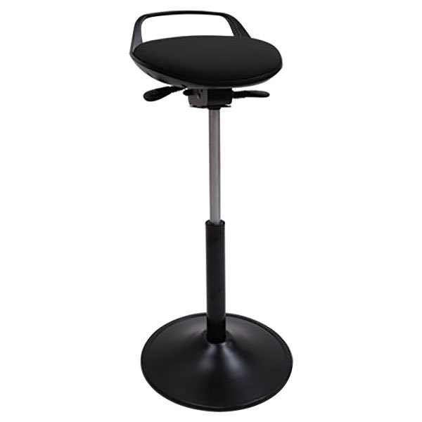 Alera Plus ALESQ600 Black Adjustable Perch Sit Stool with Base
