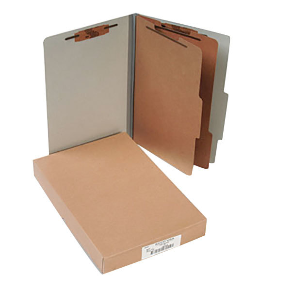 Acco 16056 Legal Size Classification Folder - 10/Box