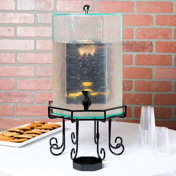 Cal-Mil 932-3INF Glacier Acrylic 3 Gallon Octagonal Beverage Dispenser with Infusion Chamber