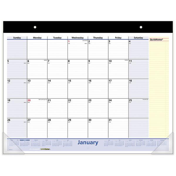 "At-A-Glance SK700 11"" x 8 1/4"" Monthly September 2019 - December 2020 Desk / Wall Calendar"