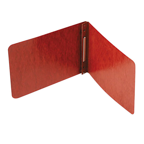 """Acco 11038 8 1/2"""" x 5 1/2"""" Red Pressboard Report Cover with Prong Fastener Main Image 1"""