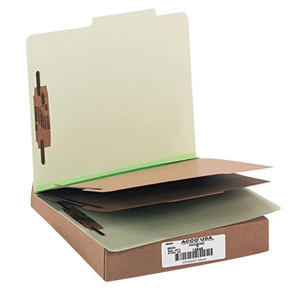 Acco 15046 Letter Size Classification Folder - 10/Box Main Image 1