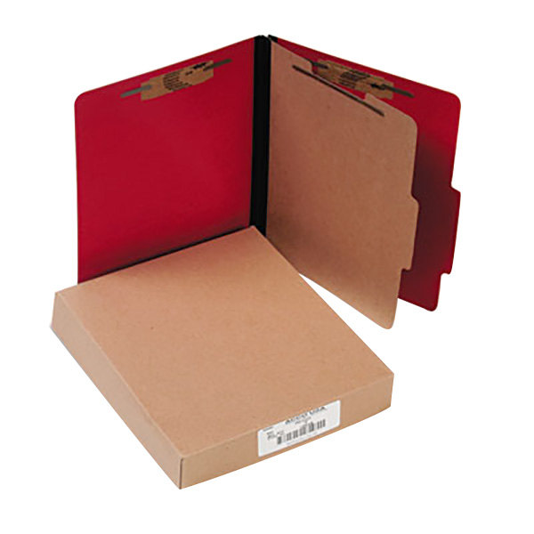 Acco 15649 Letter Size Classification Folder - 10/Box Main Image 1