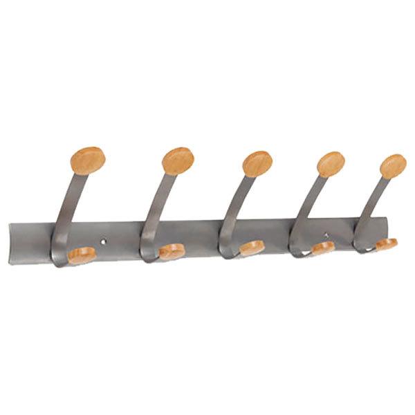 Alba PMV5 Wooden Five-Peg Coat Hook / Wall Rack Main Image 1
