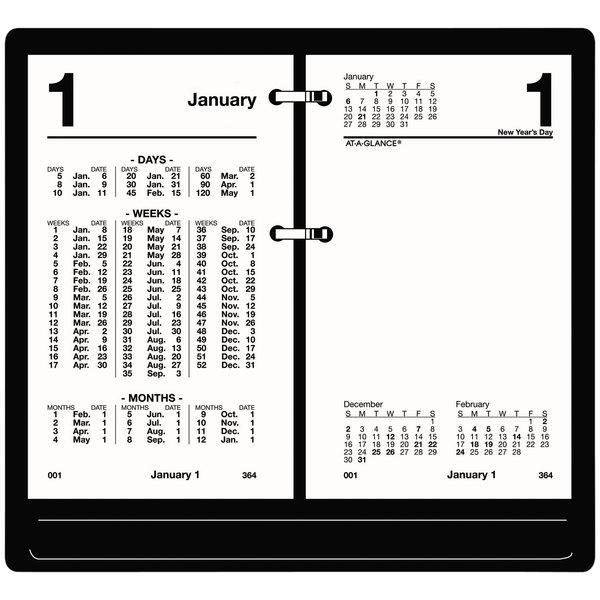 "At-A-Glance S17050 3 1/2"" x 6"" White January 2020 - December 2020 Financial Desk Calendar Refill"