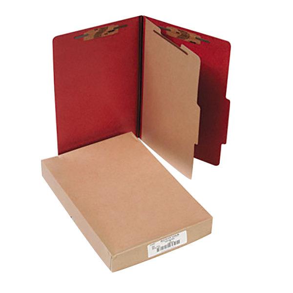 Acco 16034 Legal Size Classification Folder - 10/Box