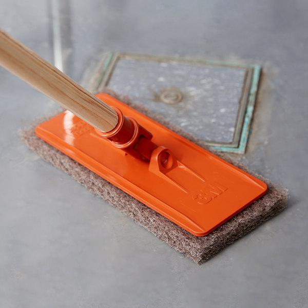 """3M 6472 Doodlebug 9"""" x 3 3/4"""" Orange Pad Holder Kit with Pads Main Image 4"""
