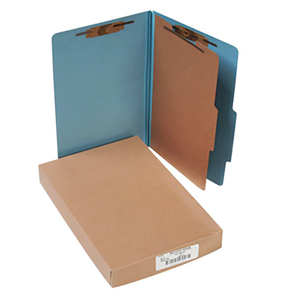 Acco 16024 Legal Size Classification Folder - 10/Box