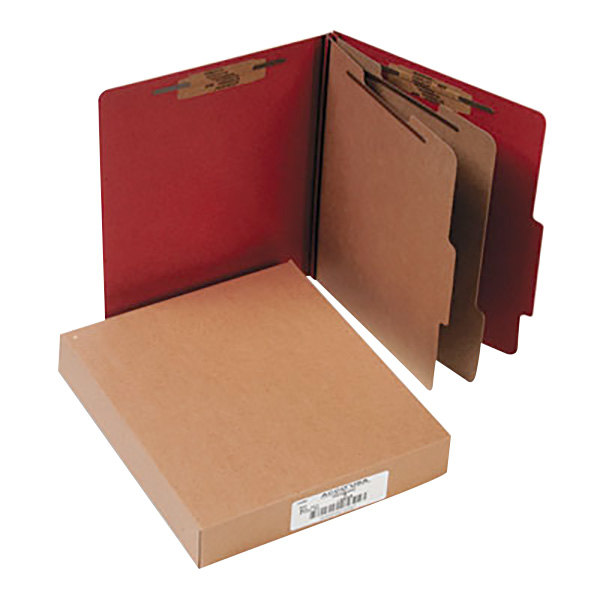 Acco 15036 Letter Size Classification Folder - 10/Box Main Image 1