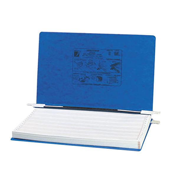 "Acco 54043 8 1/2"" x 14 7/8"" Side Bound Hanging Data Post Binder - 6"" Capacity with 2 Fasteners, Dark Blue"