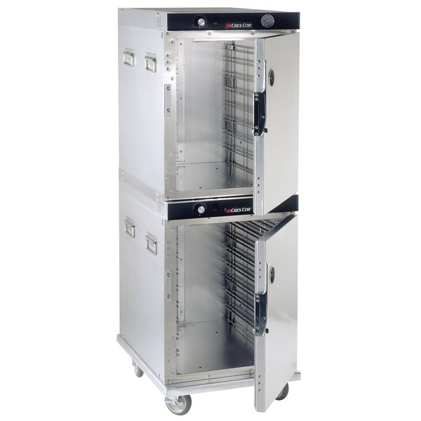 Cres Cor H-339-214C Insulated Full Height Stainless Steel Stacked Holding Cabinet - 120V, 1800W