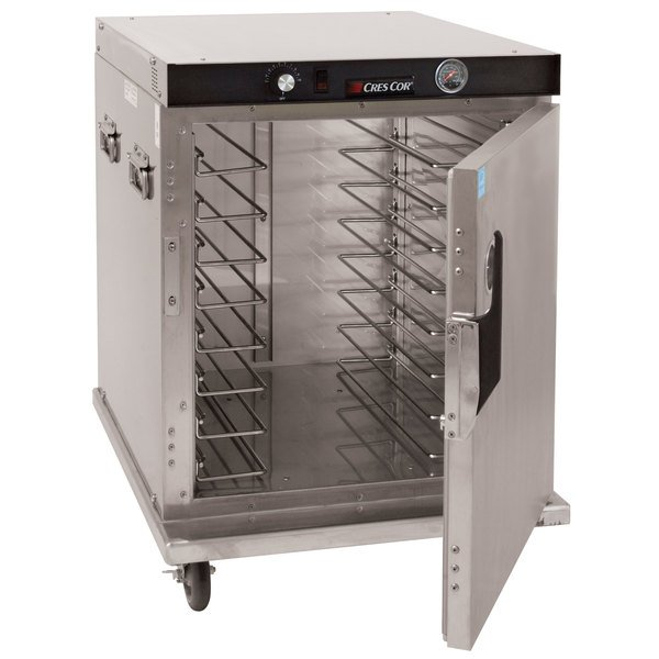 Cres Cor H-339-SS-UA-8C Insulated Half Height Stainless Steel Holding Cabinet - 120V, 900W Main Image 1