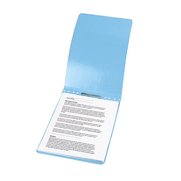 """Acco 19022 8 1/2"""" x 14"""" Light Blue Presstex Top Bound Legal Report Cover with Prong Fastener - 2"""" Capacity Main Image 1"""